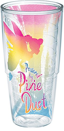 (Tervis 1269235 Disney - Tinkerbell Pixie Dust Insulated Tumbler with Wrap, 24 oz, Clear)