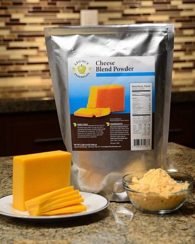 Legacy Essentials Long Term Dried Cheese Powder - 15 Year Shelf Life Powdered Cheese Blend for Emergency Food Storage Supply (Quantity 6) by Legacy Premium Food Storage (Image #2)