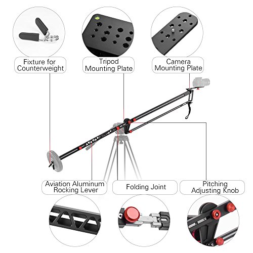 VILTROX YB-K275 DSLR Camera Jib Crane 3m Video Camera Supports Stabilizers Telescoping Portable Travel Jib Crane Arm, with carring bag by VILTROX (Image #1)