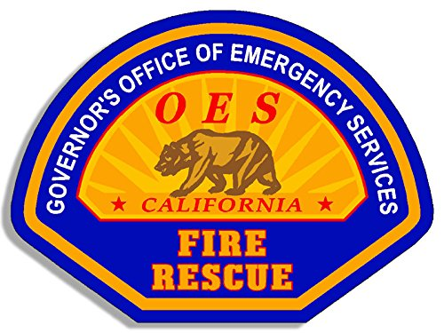 OES California Emergency Services Logo Sticker (fire rescue) (Emergency Services Decals)