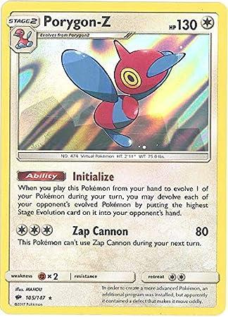 Porygon-Z 105//147 NM//M Burning Shadows Reverse Holo Rare 1x Pokemon