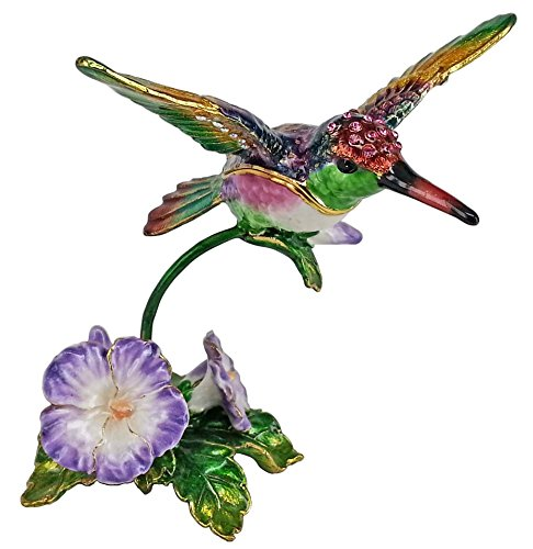 RUCINNI Hummingbird Jeweled Trinket Box with SWAROVSKI Crystals (Hummingbird Jeweled Box)