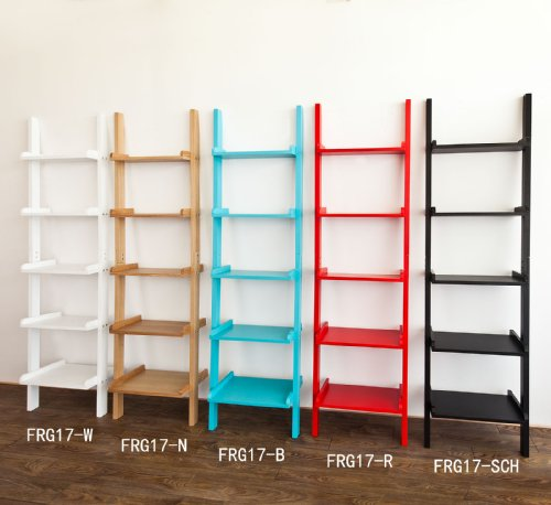 Amazon.com: Haotian Leaning Ladder Book Shelf Made Of Wood With ...