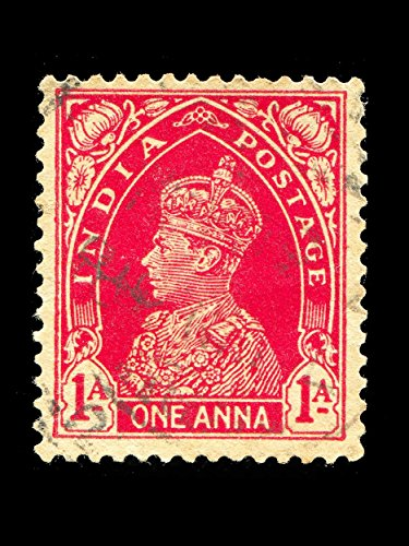 King George Vi Vintage Stamp India Photo Art Picture Poster Print