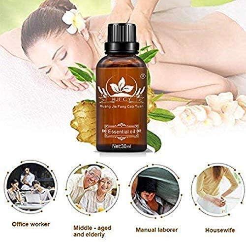 XQSB 2538//5000 淋巴排泄生姜油,100%天然身体按摩生姜油,可缓解肿胀,皮肤和肌肉酸痛