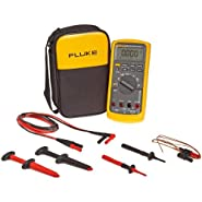 Fluke 87-5/E2KIT Industrial True-RMS Multimeter Combo Kit with a NIST-Traceable Calibration Certificate with Data
