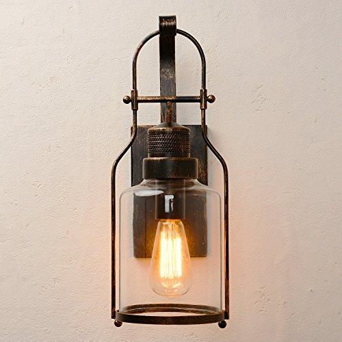 Industrial Loft Lantern 1-Light Wall Sconce (Old Bronze) (Bronze Vintage Wall Lantern)