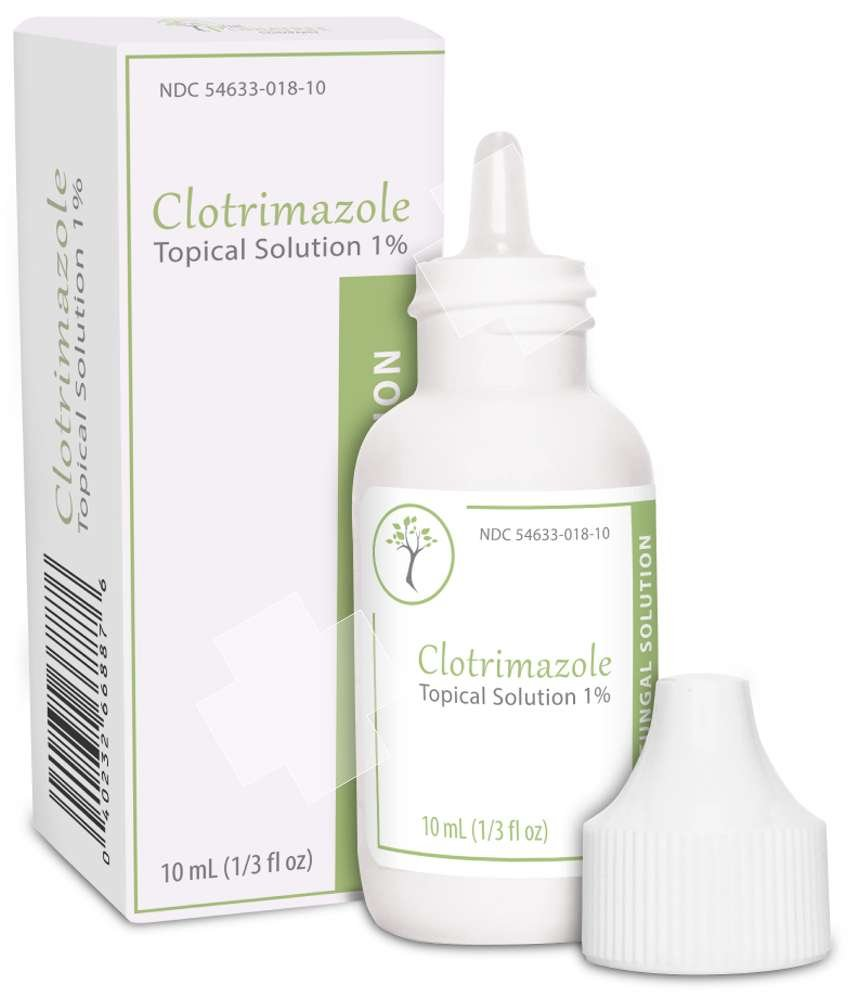 CLOTRIMAZOLE Antifungal Topical Solution 1% 10mL 1/3-oz Nail Athletes Foot Ringwarm Made in USA by Podiatree Company by PodiaTree