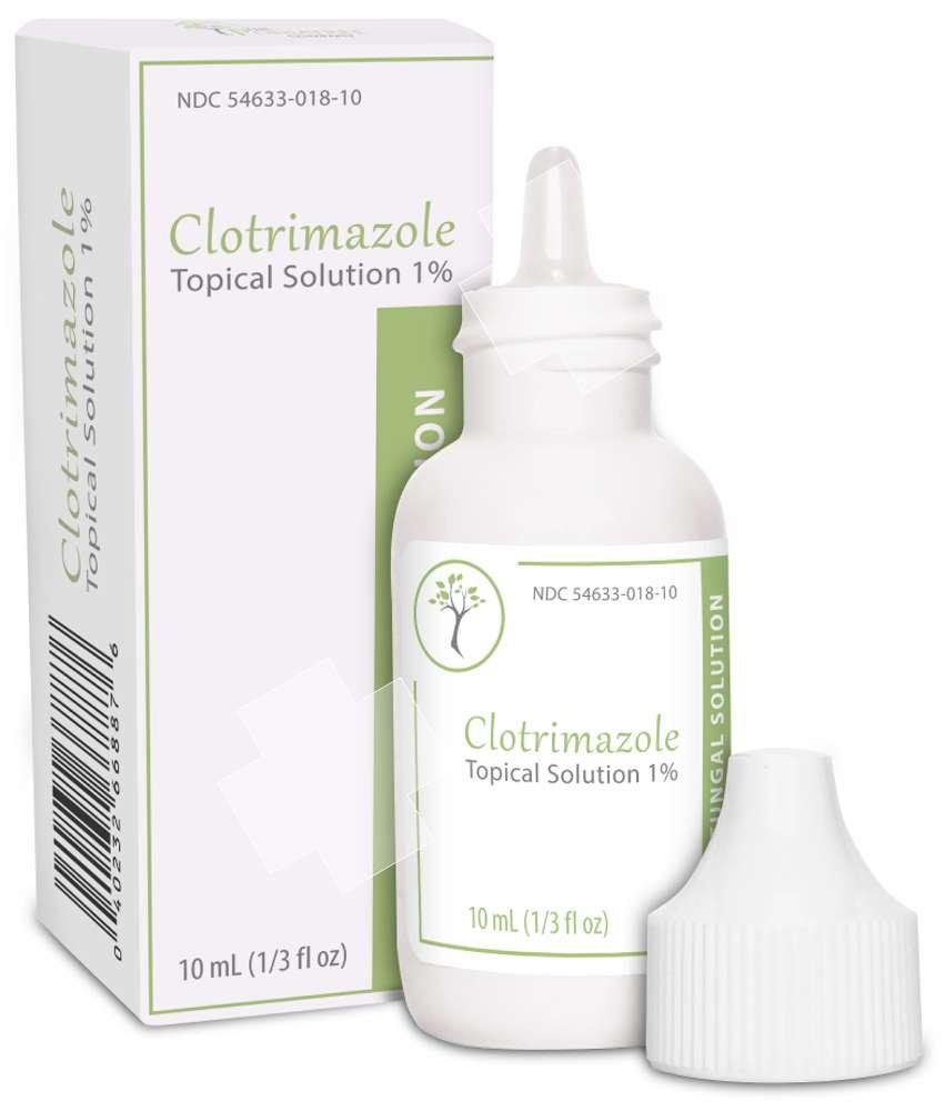 CLOTRIMAZOLE Antifungal Topical Solution 1% 10mL 1/3-oz Nail Athletes Foot Ringwarm Made in USA by Podiatree Company