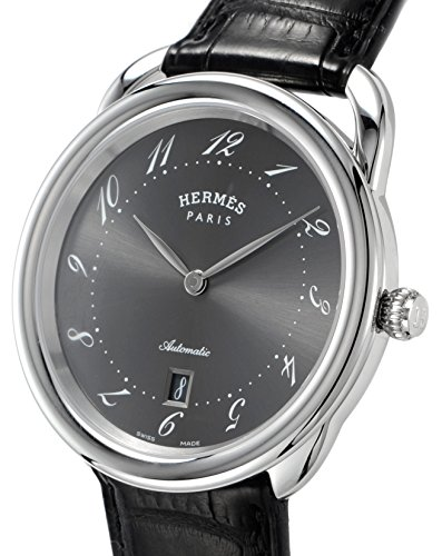 HERMES watch Aruso automatic winding alligator leather AR7.710.230 / MNO Men