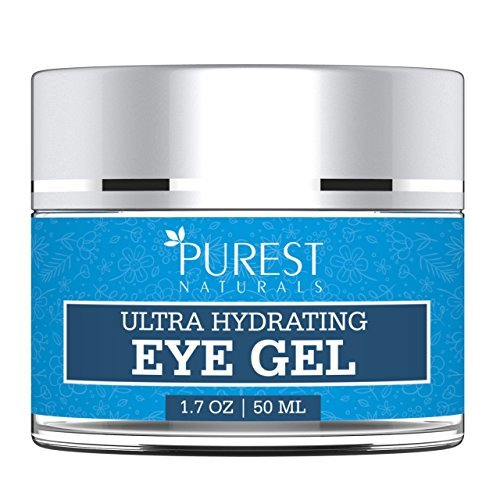 Purest Naturals Anti-Aging QV Eye Cream Gel For Dark Circles, Puffiness, Wrinkles, Fine Lines & Bags - Best Eye Gel For Under & Around Eyes