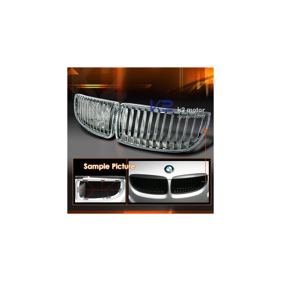 BMW 3 Series 4Dr BMW E90 Grille   Chrome Black Grille Grill 2006 2007 2008 2009 06 07 08 09