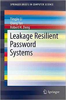 Book Leakage Resilient Password Systems (SpringerBriefs in Computer Science)