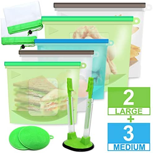 Silicone Reusable Sandwich Storage Containers