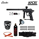 Azodin Kaos Silver Paintball Gun Package - Black