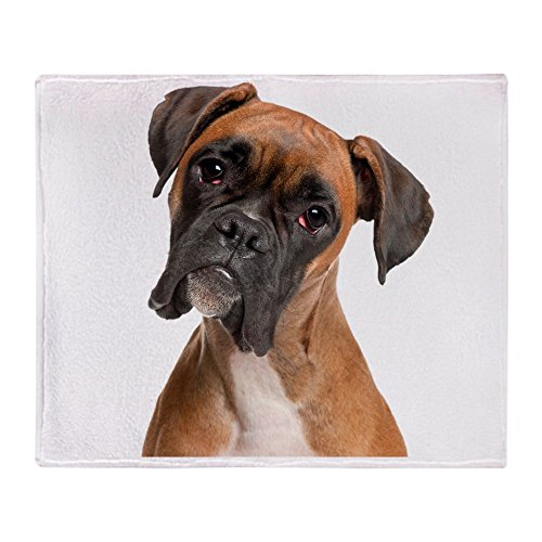 CafePress - Boxer - Soft Fleece Throw Blanket, 50