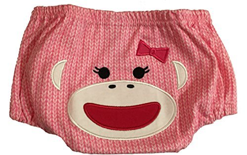 Baby Starters Pink Sock Monkey Diaper Cover & Cap Gift ()