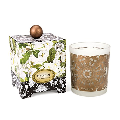 - Michel Design Works Gift Boxed Soy Wax Candle, 14-Ounce, Bouquet