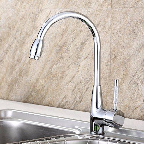 T-TSLT Kupferhahn für Heißes und kaltes Wasser aus Kupfer, drehender Waschbeckenhahn, Waschbeckenwaschbecken