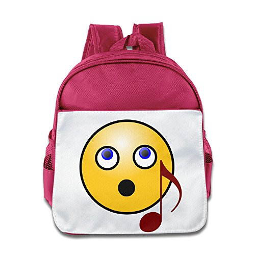 Price comparison product image OurLove Devil Smiley Faces Boy Bookbag Backpack Leisure Size Size Key Pink