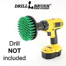Carpet Brush Drill Attachment Medium Duty Scrubbing Drill Brush with Quarter Inch Quick Change Shaft