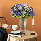 Luyue Vintage Artificial Peony Silk Flowers Bouquet
