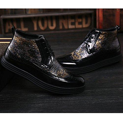 Cotone Giallo Lace scarpe up caviglia accento stivali piatte Xianshu ntqx8Bv06w