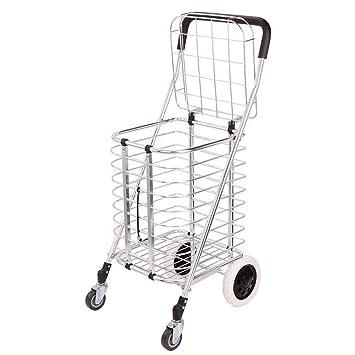 Supermercado Plegable Carros De La Compra, Ruedas De Goma De Carro De Mano De Gran Capacidad para ...
