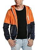 JINIDU Men's Lightweight Jacket Quick Dry Windbreaker Summer Hooded Sun Protection Outwear
