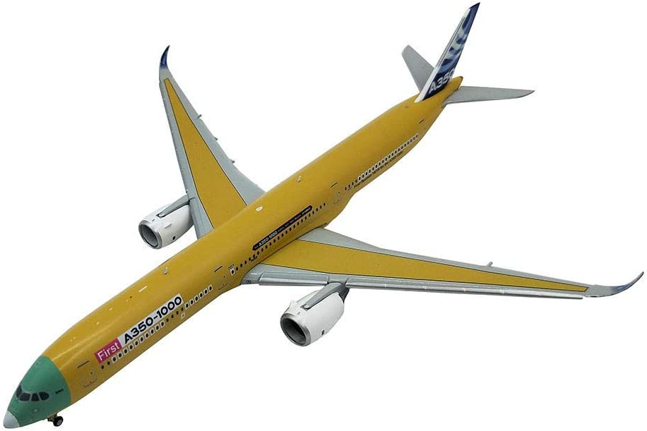 Airplane Model Diecast Airplane Alloy Model, 1/400 Airliner A350-1000 Airbus Plane Model, Adult Toys and Decorations, 7.3Inch X 6Inch