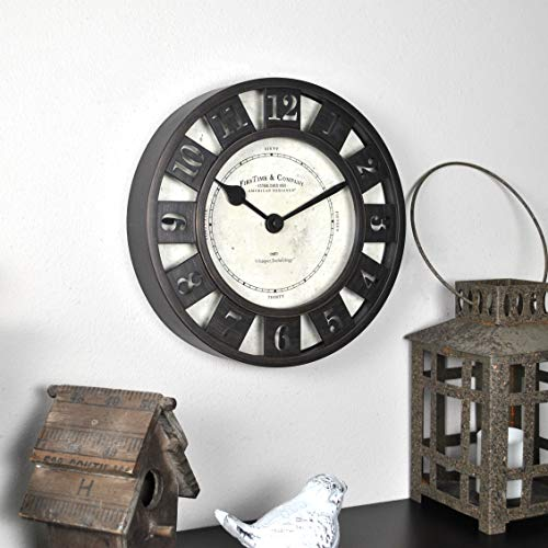 "FirsTime & Co. Barstow Wall Clock, 8"", Oil Rubbed Bronze"