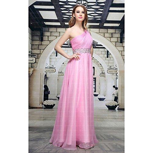bei Design Pink Damen Festamo Maxi Kleid Für Ital Ball Chiffon wYfxwR8g