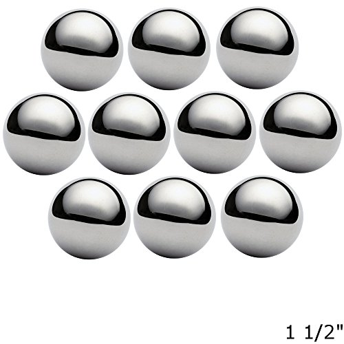 West Coast Paracord 1 1/2 Inch Chrome Steel Bearing Balls for Paracord Projects (10 Pack) by West Coast Paracord