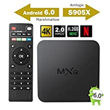 2017 Model GooBang Doo MXQ Android 6.0 TV Box, MXQ Android TV Box 64 Bits Amlogic S905X Marshmallow Os