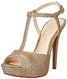 Jessica Simpson Women's Barretta Dress Sandal, Gold, 8.5 M US