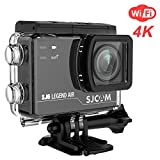 SJCAM WIFI 4K Action Camera SJ6 Legend Air with 2.0 HD Touchscreen/170 Degree Wide Angel/ Gyro Stabilization/ External Microphone/ Remote Control Waterproof Underwater Digital Action Camera for Diving