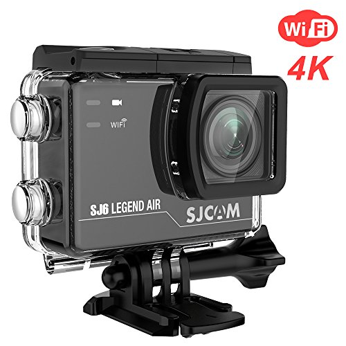 SJCAM SJ6 Legend Air WIFI 4K Action Camera with 2.0 HD Touchscreen/170 Degree Wide Angel/ Gyro Stabilization/ External Microphone/Remote Control Waterproof Underwater Digital Action Camera for Diving, SJCAM
