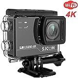 SJCAM SJ6LEGEND 4K Wifi Action Camera Dual Screen- 2.0 TouchScreen/0.9 Front LCD Screen/170 Degree Wide Angel/Gyro Stabilization/External Microphone Supported (For SJ6 Legend Air)