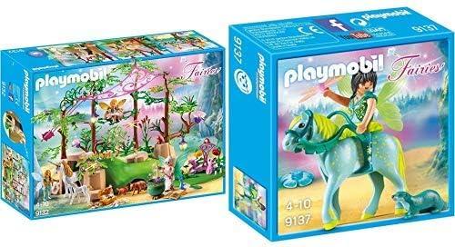 B-WARE Playmobil 9132 Magischer Feenwald Figuren Tiere Spielzeug Schatztruhe