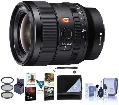G Master Capleash II Sony FE 24mm F//1.4 GM Lens Wrap PC Software Package E Mount Lens Bundle with 67mm Filter Kit Cleaning Kit
