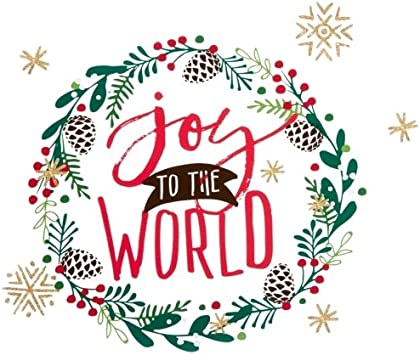 Holiday Lane Joy To The World Wall Decal Home Kitchen Amazon Com