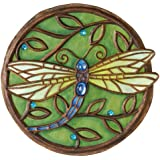 New Creative 25850 Garden Jewels Stepping Stone, Jeweled Dragonfly, 10.75-Inches Diameter