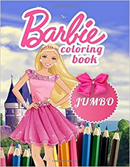 Barbie Jumbo Coloring Book Coloring Book For Kids And