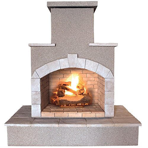 Cal Flame FRP908-3-1 78″ Propane Gas Outdoor Fireplace