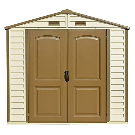 Amazon.com : Duramax 8x6 StoreAll Vinyl Storage Shed with Foundation : Garden & Outdoor