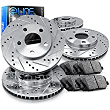 For Ford, Lincoln Edge, MKX Front Rear Drill Slot Brake Rotors+Ceramic Pads