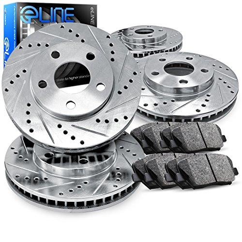 2013-2015 Honda Accord Full Kit eLine Drill/Slot Brake Disc Rotors & Ceramic Pad for cheap