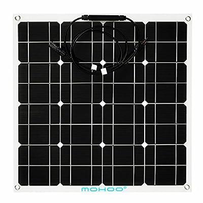 MOHOO 100W 18V Monocrystalline Solar Panel Energy Semi Flexible Waterproof Charger Panel