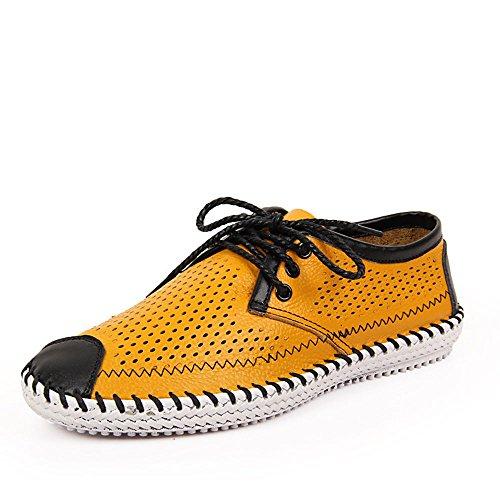 Zapatos Hechos a Mano Zapatos de Playa Ocasionales Respirables de la Playa Amarillo