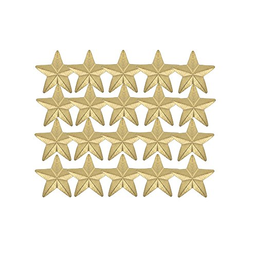 Awards & Gifts R Us 7/16 Inch Small Star Chenille Pin Gold - Package of 20, Poly Bagged